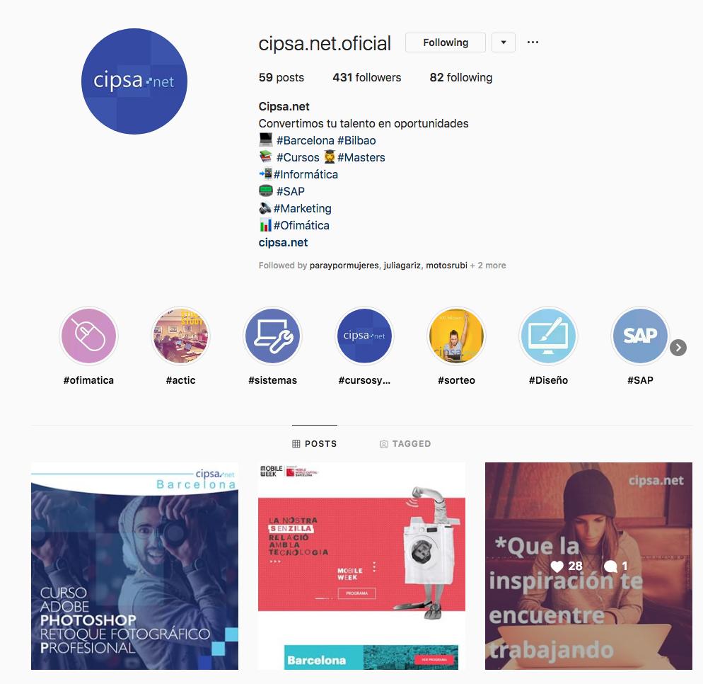 contenidos digitales marketing digital instagram