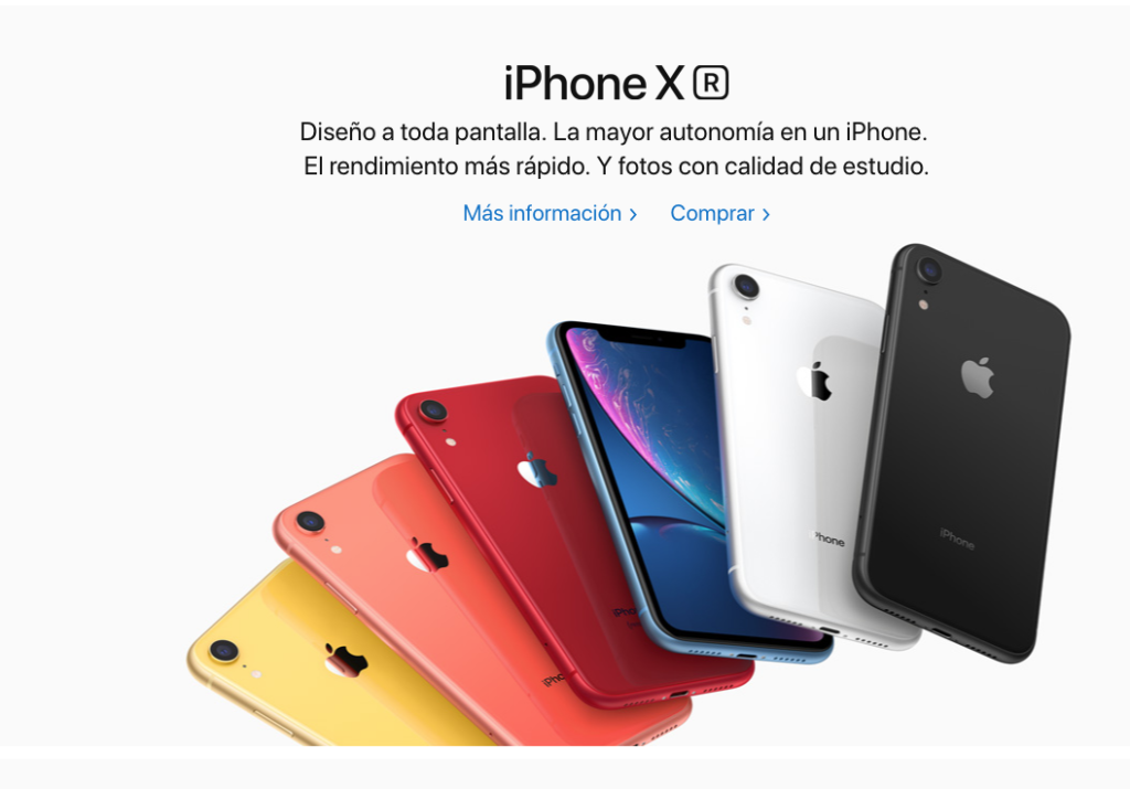 contenidos digitales marketing digital iphone X apple