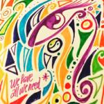 ilustraciones infinitas lutxana ojo colores fluor geometrico