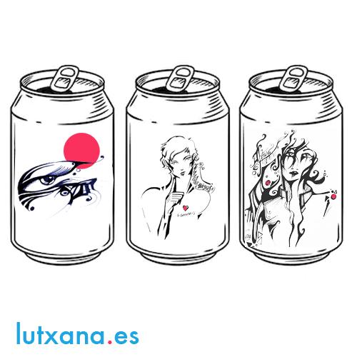 lutxana diseño gráfico merchandising latas art barcelona ilustraciones infinitas dandee girls