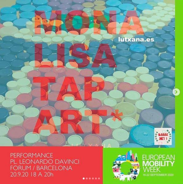 european mobility week talleres barcelona dibuixa mona lisa tap art lutxana barcelona dibuixa talleres infantiles creativos